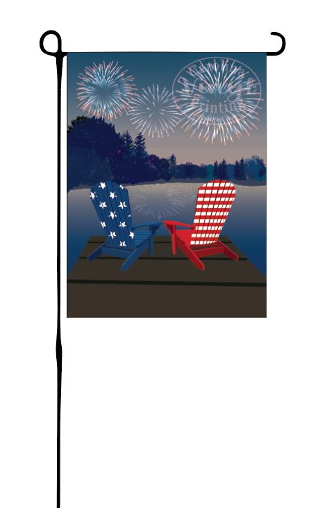 Fireworks on Lake Garden Flag