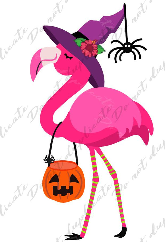 Flamingo Witch Vinyl Heat Transfer