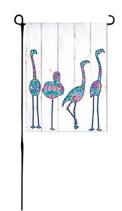 Flock of Flamingos Garden Flag