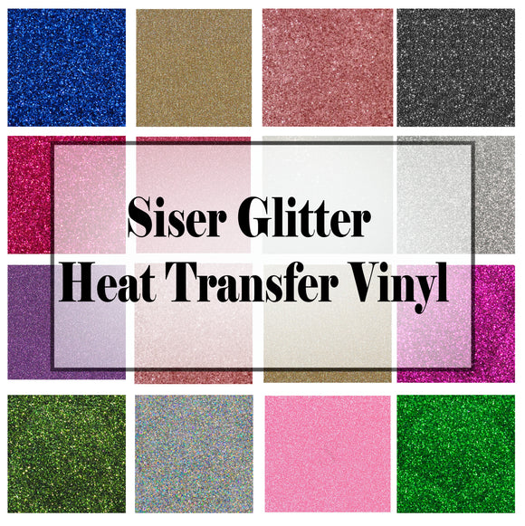 Siser Glitter HTV (heat transfer vinyl) 35% off ALL, 55% off select colors.
