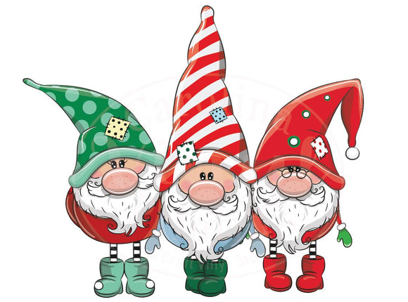 Christmas Gnome Group Heat Transfer