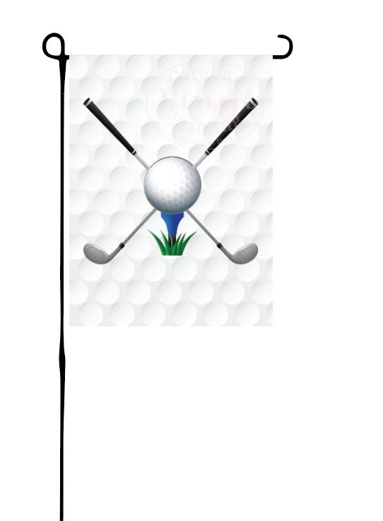 Golf Clubs Garden Flag