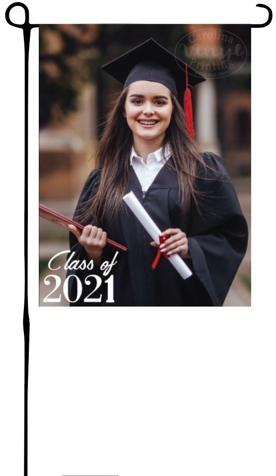 Custom Photo, Class of 2021 Garden Flag