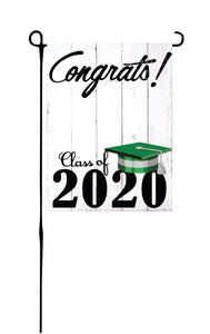 Class of 2020 - Green & Grey - Garden Flag