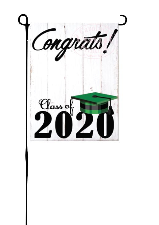 Class of 2020 - Green & Black - Garden Flag