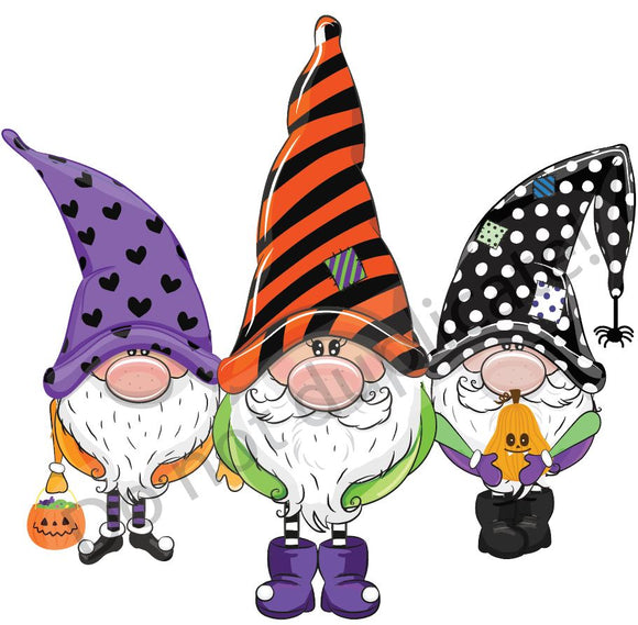 Halloween Gnomes Vinyl Heat Transfer
