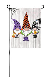 Halloween Gnomes Garden Flag