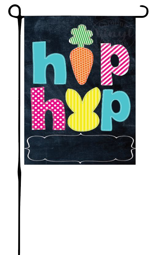 Easter Hip Hop Garden Flag
