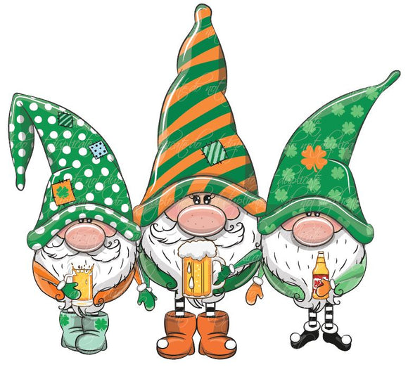 St. Patrick's Day Irish Gnomes Heat Transfer
