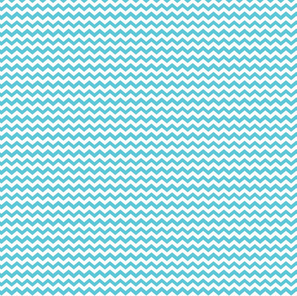 Island Blue Mini Chevron Printed Vinyl