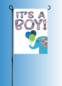 It's a BOY! Garden Flag