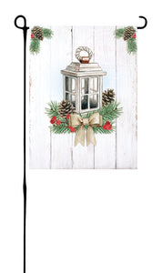 Winter Lantern Garden Flag