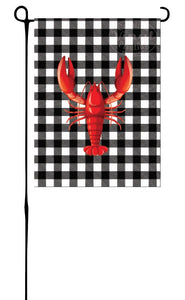 Lobster/Crawfish on Buffalo Plaid Garden Flag