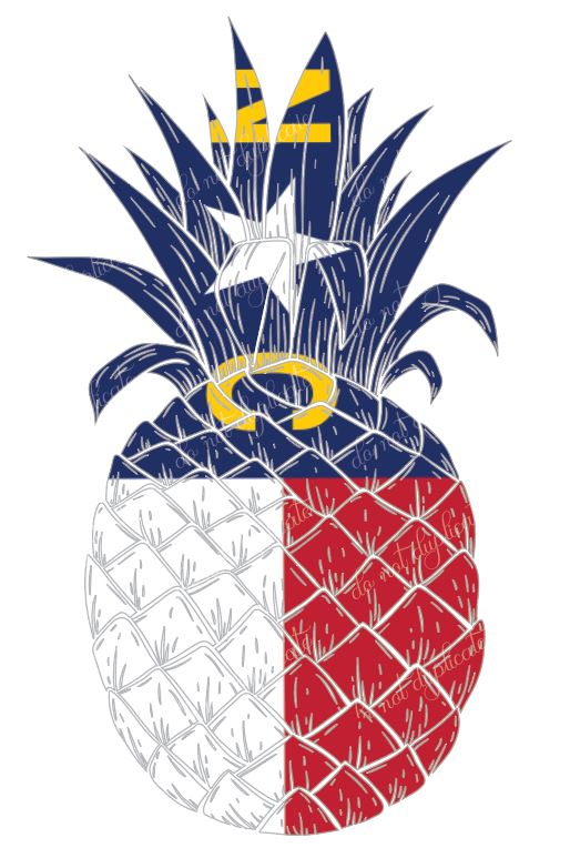 North Carolina Pineapple - Heat Transfer