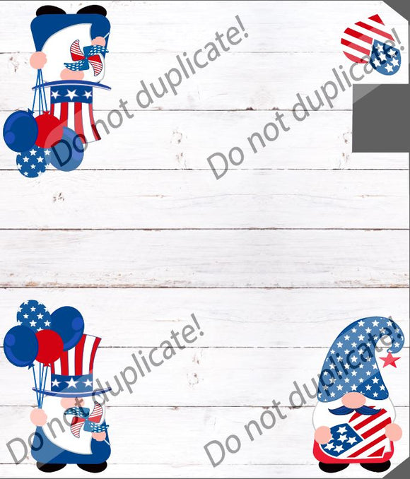 Patriotic Gnomes Mailbox Cover
