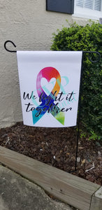Multi Color Awarness Ribbon Garden Flag