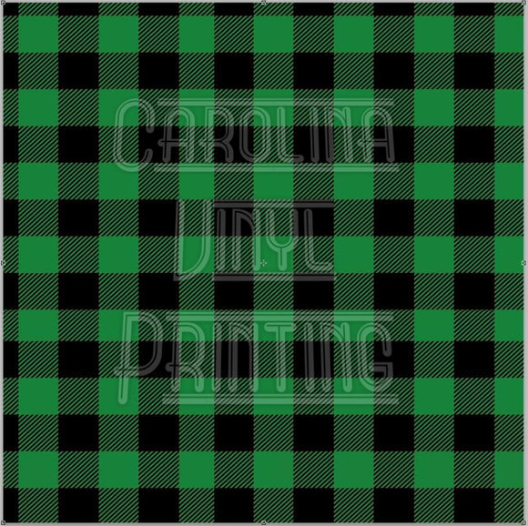 Green Buffalo Plaid Printed Vinyl