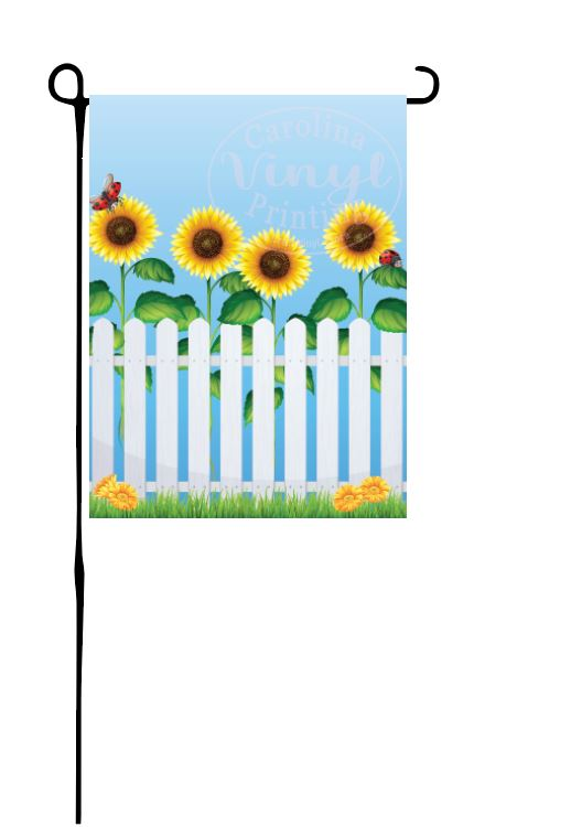 Grandparent Picket Fence Garden Flag