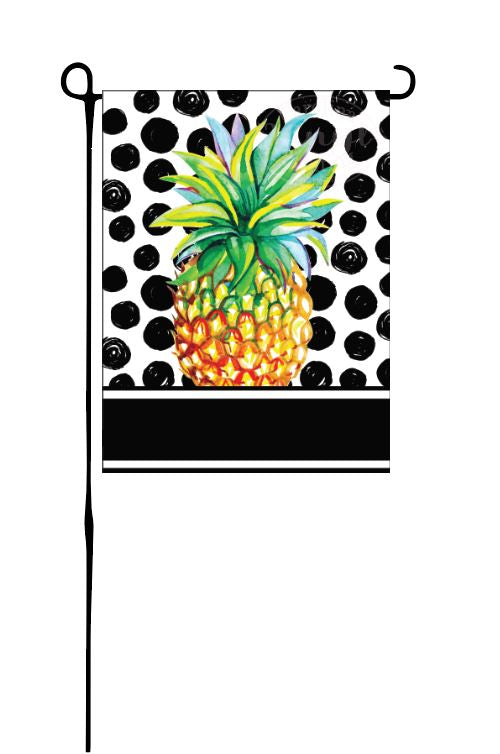Painted Pineapple Garden Flag