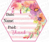 "Customer Labels 4"" wide - set of 28"