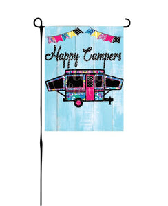 Pop-up Camper Garden Flag