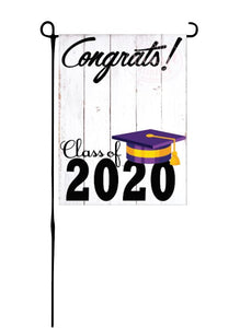 Class of 2020 - Purple & Yellow - Garden Flag