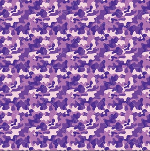 Purple Camo Printed Vinyl