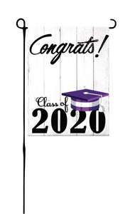 Class of 2020 - Purple & White - Garden Flag