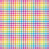 Rainbow Mini Plaid Printed Vinyl