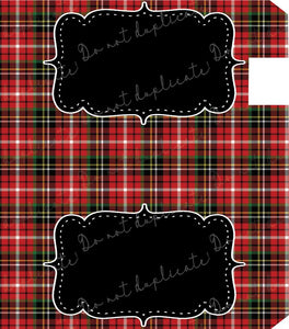 Red Tartan Plaid Mailbox Cover