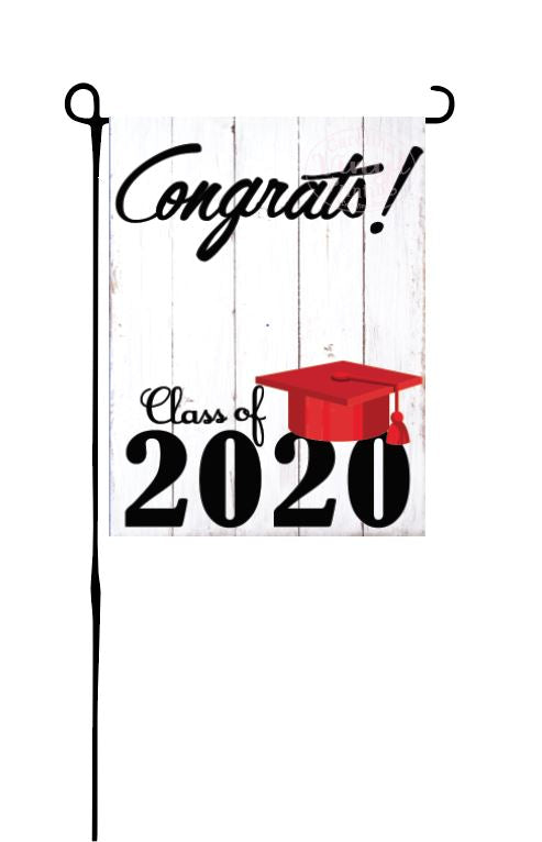 Class of 2020 - Red - Garden Flag