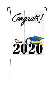 Class of 2020 - Royal Blue & Yellow - Garden Flag