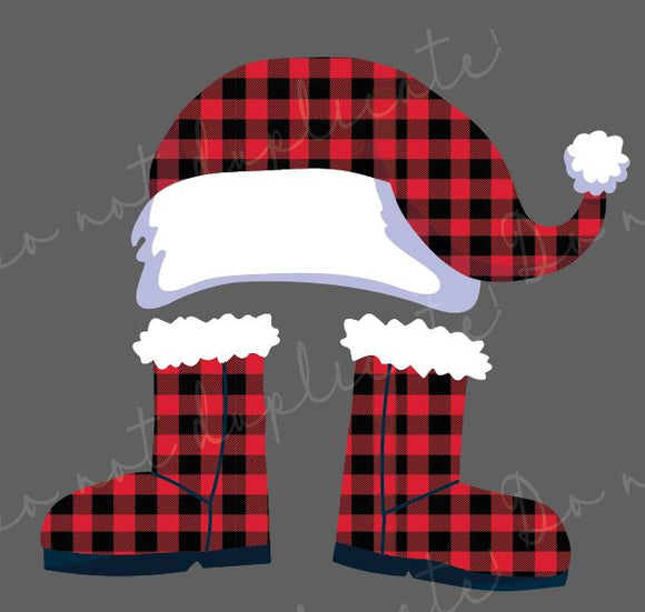 Santa Hat & Boots Set Heat Transfer