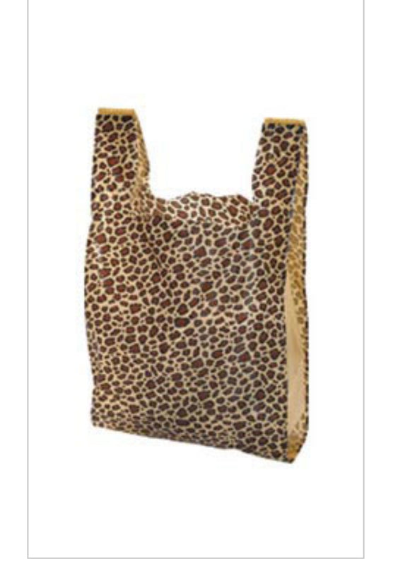 Set of 25 - Leopard Tshirt (grocery) Bags