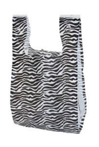 Set of 25 - Zebra Tshirt (grocery) Bags