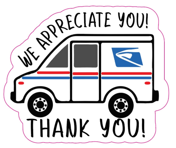 UPS & USPS Thank You Stickers
