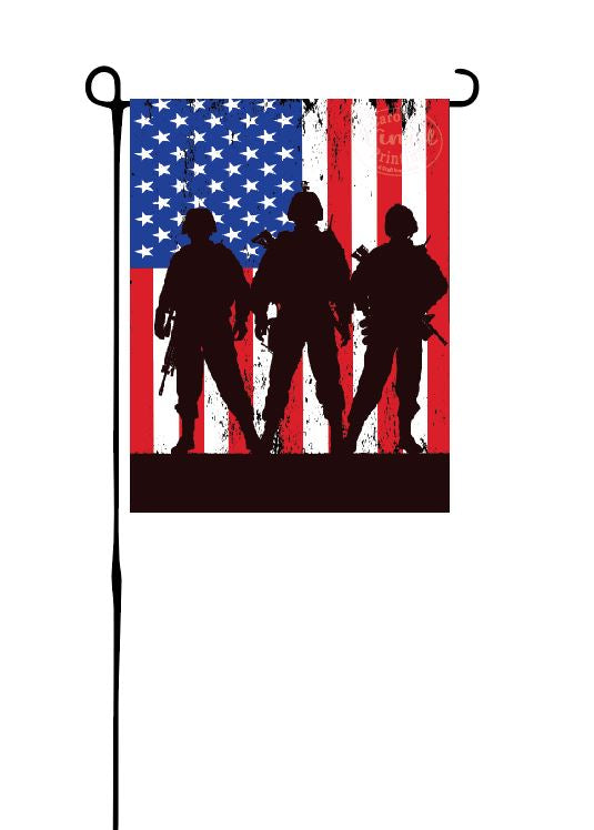 US Soldier Garden Flag