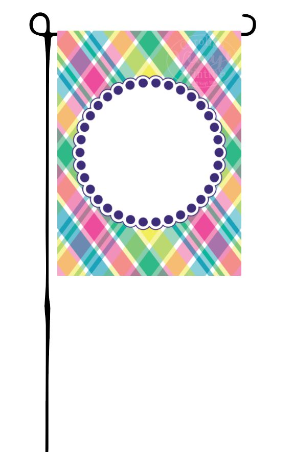 Spring Plaid Garden Flag