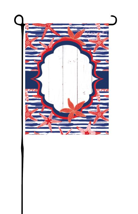 Patriotic Starfish Garden Flag