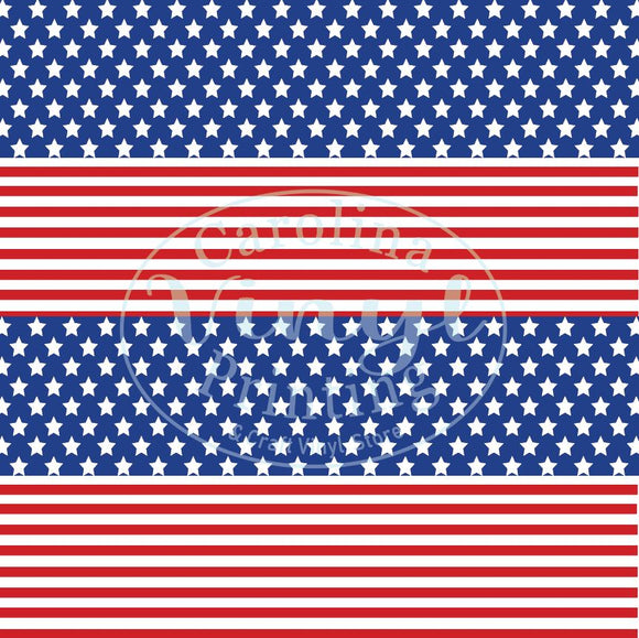 Stars & Stripes Printed Vinyl