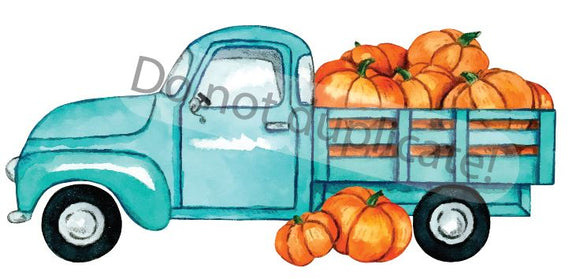 Teal Pumpkin Truck Vinyl Heat Transfer