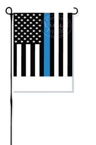 Thin Blue Line Police Garden Flag