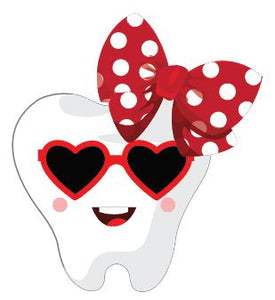 Valentine's Tooth with Bow Heat Transfer
