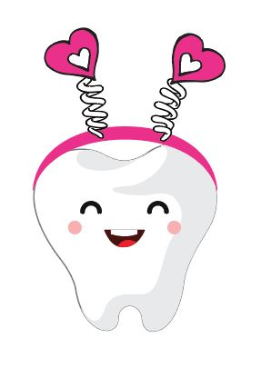 Valentine's Tooth with Heart Antennas Heat Transfer