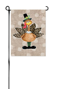 Cute Turkey Garden Flag