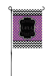 Black and White Chevron with Purple & Yellow