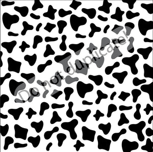 Cow Black & White Pattern Printed Vinyl