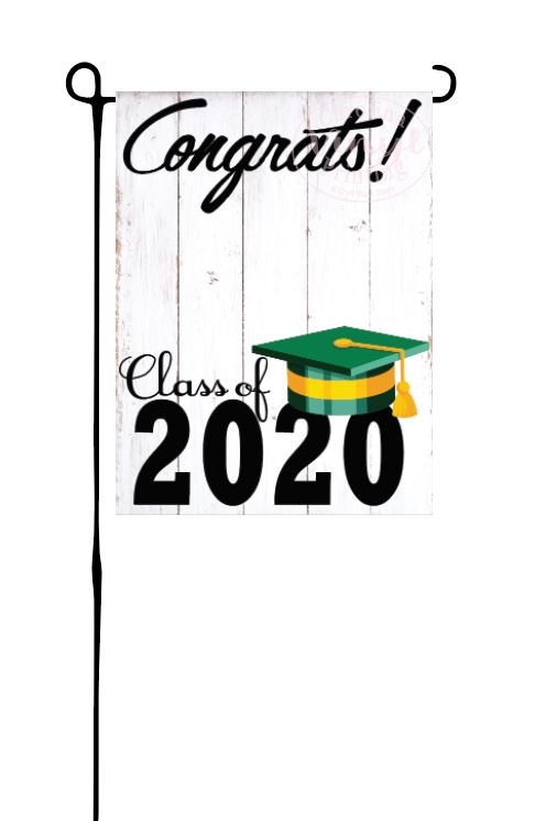 Class of 2020 - Green & Yellow Garden Flag