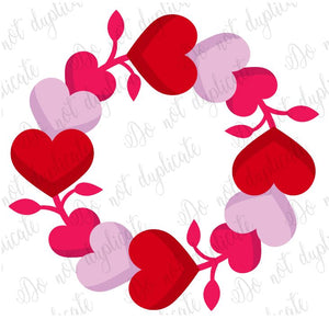 Heart Wreath Heat Transfer