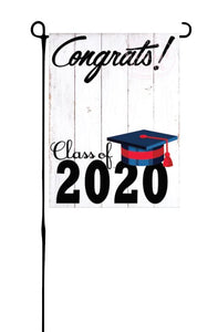 Class of 2020 - Navy & Red - Garden Flag